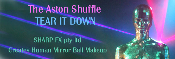 Sharp FX creates mirror ball makeup for The Aston Shuffle Music Video